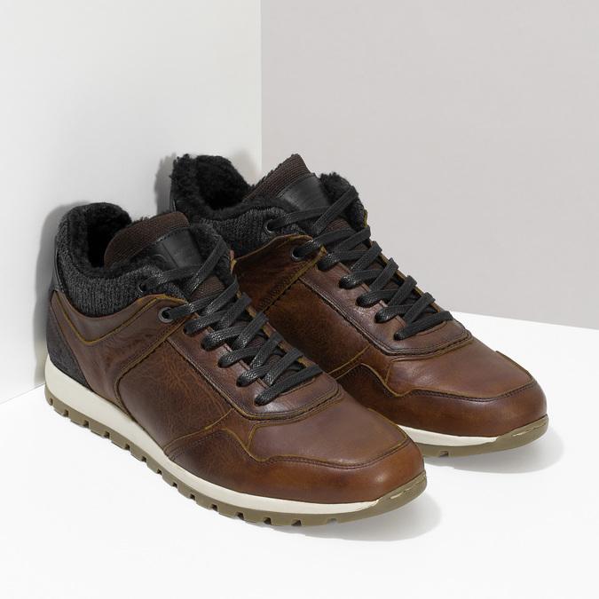 Zimowe obuwie ze skóry bata, brązowy, 846-4646 - 26