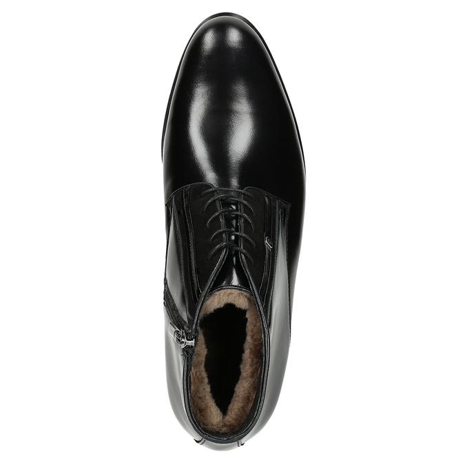 Skórzane ocieplane buty za kostkę conhpol, czarny, 894-6700 - 15