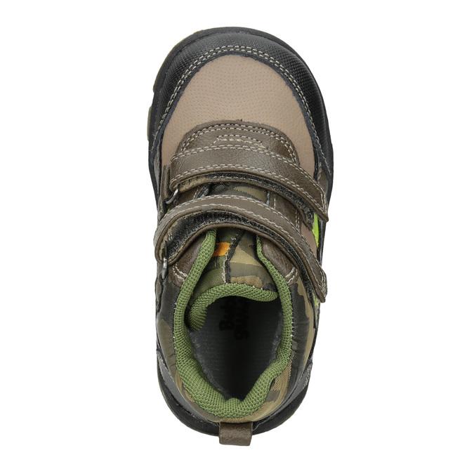 Zimowe buty dziecięce na rzepy bubblegummer, brązowy, 111-4623 - 15
