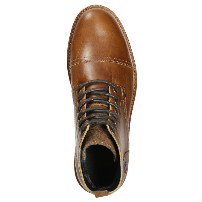Brązowe zimowe buty ze skóry bata, brązowy, 896-4667 - 26