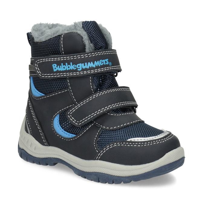 Zimowe buty dziecięce zfuterkiem bubblegummer, niebieski, 199-9602 - 13