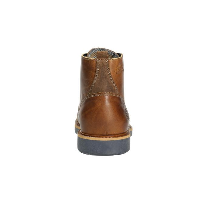 Brązowe zimowe buty ze skóry bata, brązowy, 896-4667 - 17