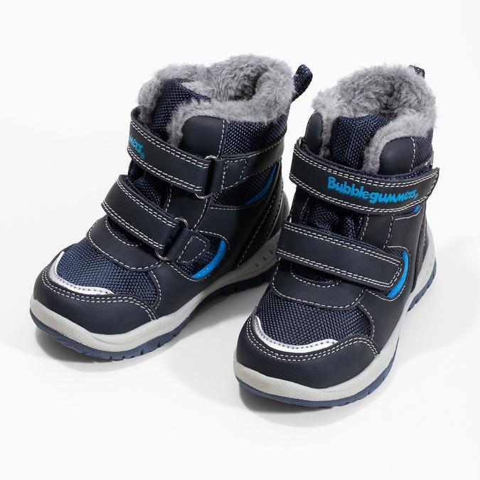 Zimowe buty dziecięce zfuterkiem bubblegummer, niebieski, 199-9602 - 16