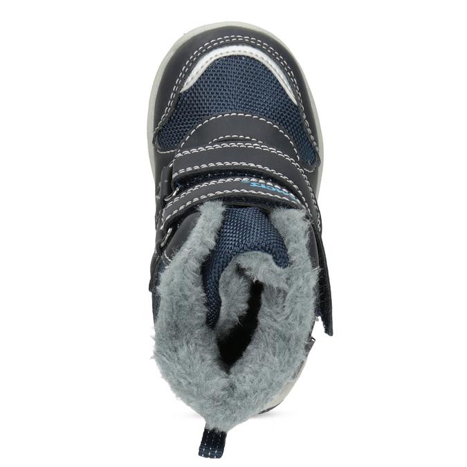 Zimowe buty dziecięce zfuterkiem bubblegummer, niebieski, 199-9602 - 17
