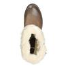 Buty za kostkę z kożuszkiem bata, brązowy, 691-2633 - 26