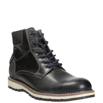 Zimowe obuwie męskie za kostkę bata, szary, 896-2657 - 13