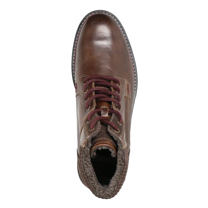 Zimowe obuwie męskie za kostkę bata, brązowy, 896-4657 - 26