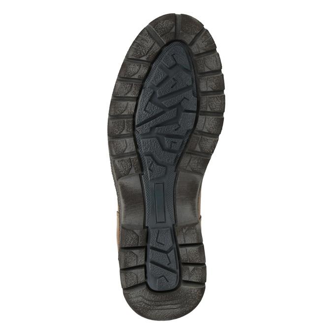 Skórzane zimowe buty męskie bata, brązowy, 896-3681 - 17