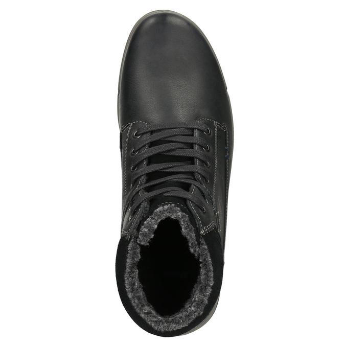 Skórzane zimowe buty męskie bata, czarny, 896-6672 - 26