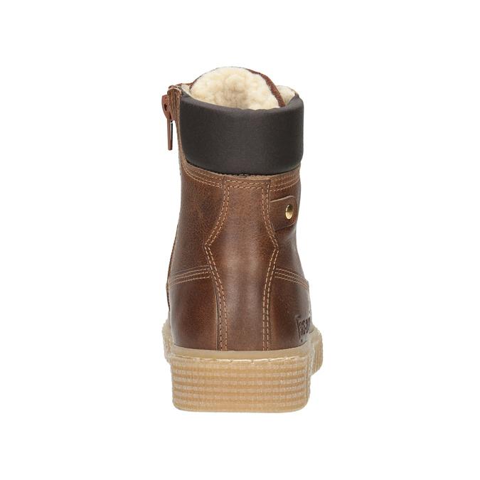Brązowe zimowe obuwie dziecięce mini-b, brązowy, 496-4620 - 16