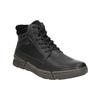 Skórzane zimowe buty męskie bata, czarny, 896-6672 - 13
