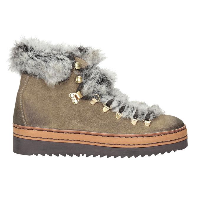 Zimowe buty damskie zfuterkiem bata, brązowy, 596-3675 - 26