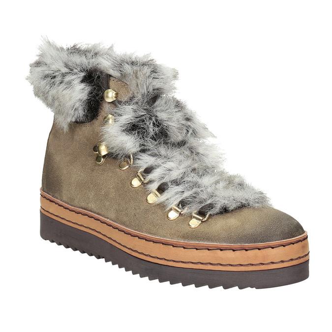 Zimowe buty damskie zfuterkiem bata, brązowy, 596-3675 - 13