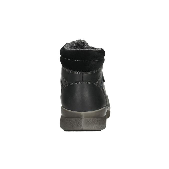 Skórzane zimowe buty męskie bata, czarny, 896-6672 - 17