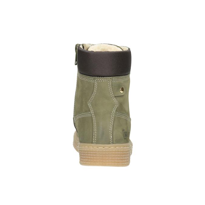 Zimowe buty dziecięce zociepliną mini-b, zielony, 496-3620 - 16