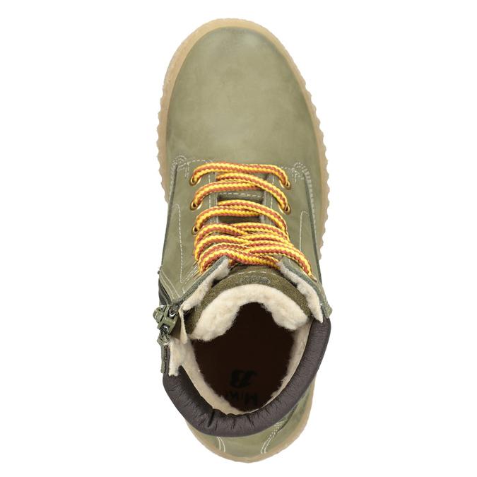 Zimowe buty dziecięce zociepliną mini-b, zielony, 496-3620 - 15