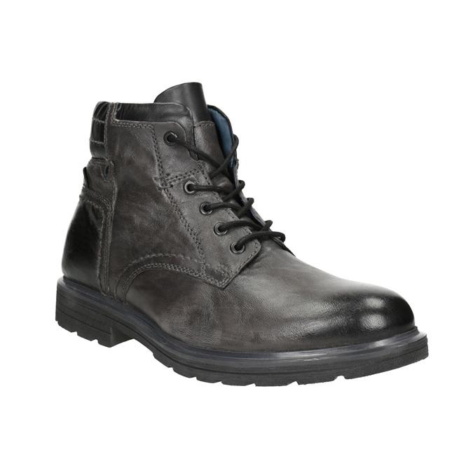 Zimowe skórzane buty męskie bata, szary, 896-2682 - 13