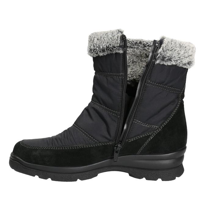 Damskie śniegowce na zimę comfit, czarny, 599-6618 - 26
