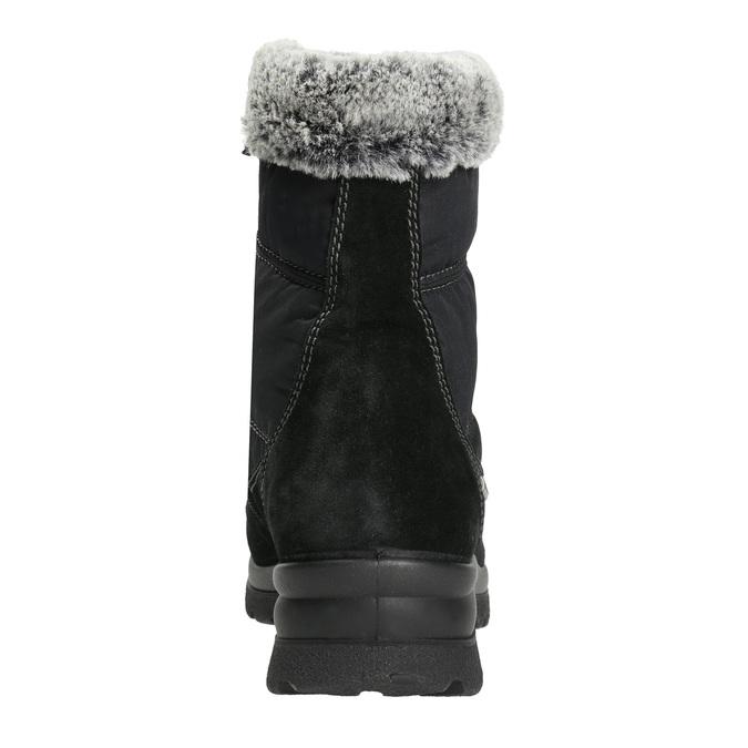Damskie śniegowce na zimę comfit, czarny, 599-6618 - 17
