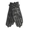 Czarne skórzane rękawiczki damskie bata, czarny, 904-6131 - 13