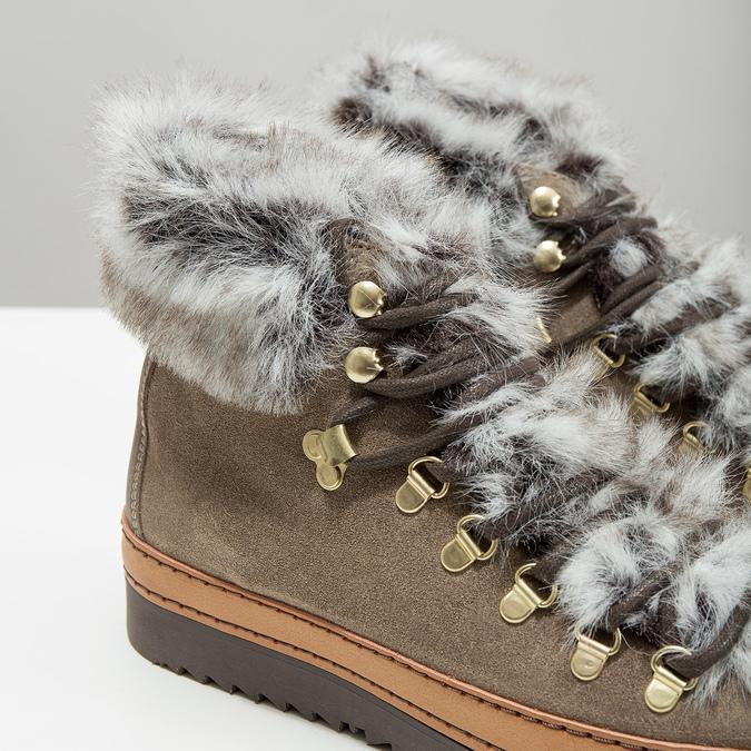 Zimowe buty damskie zfuterkiem bata, brązowy, 596-3675 - 14