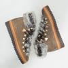 Zimowe buty damskie zfuterkiem bata, brązowy, 596-3675 - 18