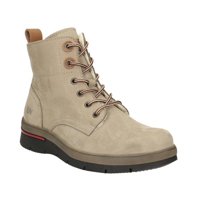 a9c97418a1d5 Weinbrenner Zimowe skórzane buty damskie za kostkę - Wszystkie buty ...