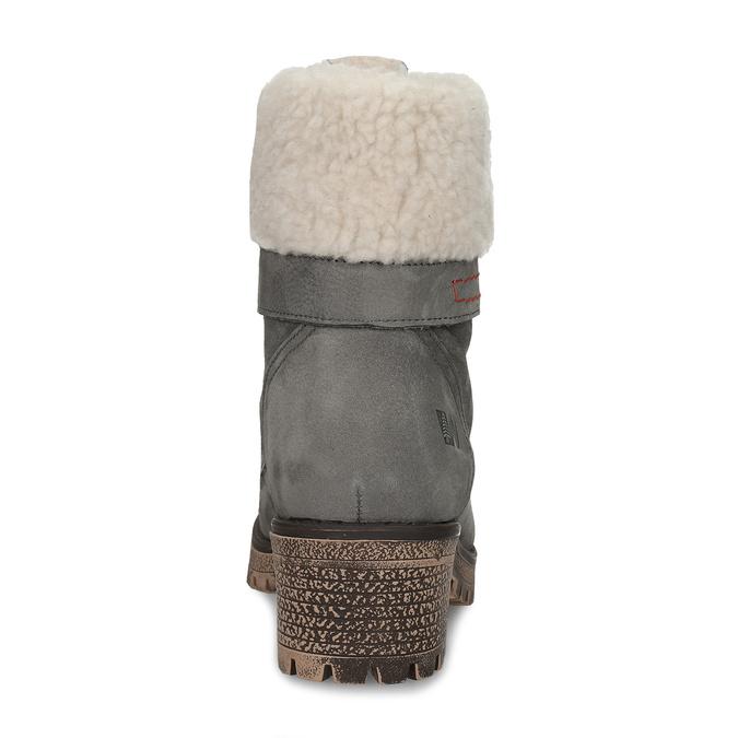 Damskie kozaki z futerkiem weinbrenner, szary, 696-2168 - 15