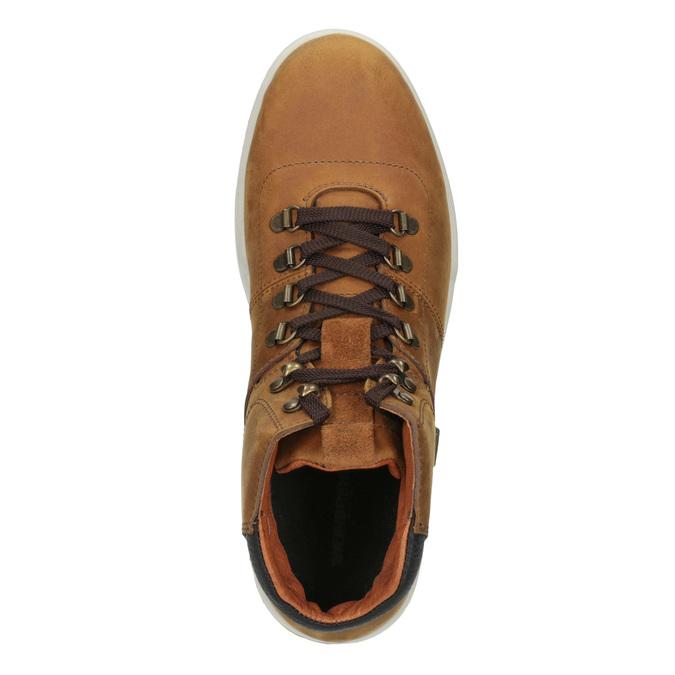 Skórzane buty męskie za kostkę weinbrenner, brązowy, 896-3701 - 15