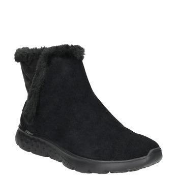 Zamszowe obuwie damskie skechers, czarny, 503-6326 - 13
