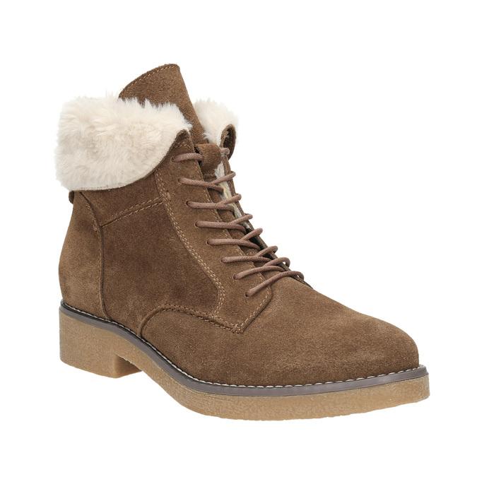 Zimowe buty damskie zfuterkiem bata, brązowy, 593-4607 - 13