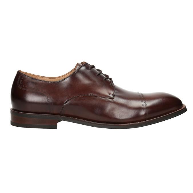 Brązowe skórzane półbuty męskie bata, brązowy, 826-4681 - 16