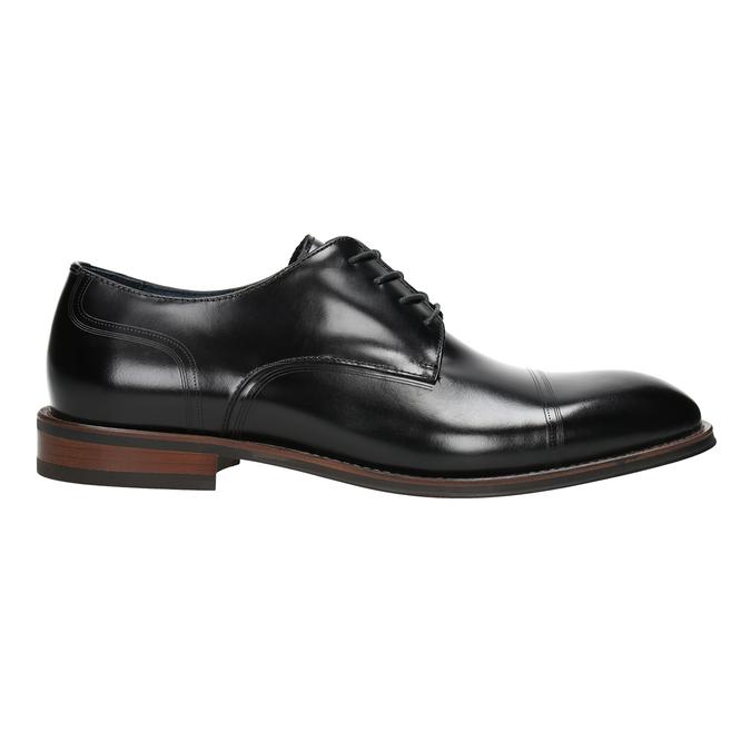 Czarne skórzane półbuty typu angielki bata, czarny, 826-6681 - 26