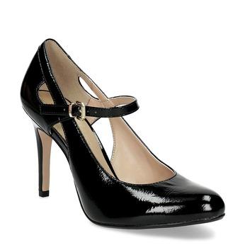 Czarne czółenka damskie zwycięciami insolia, czarny, 721-6614 - 13