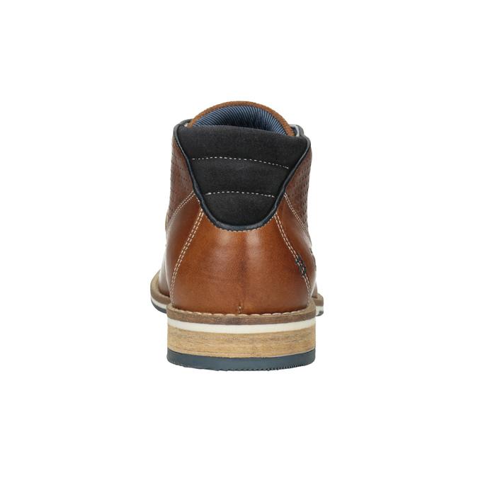 Skórzane buty męskie za kostkę bata, brązowy, 826-3925 - 16