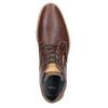 Skórzane buty męskie za kostkę bata, brązowy, 826-3926 - 15