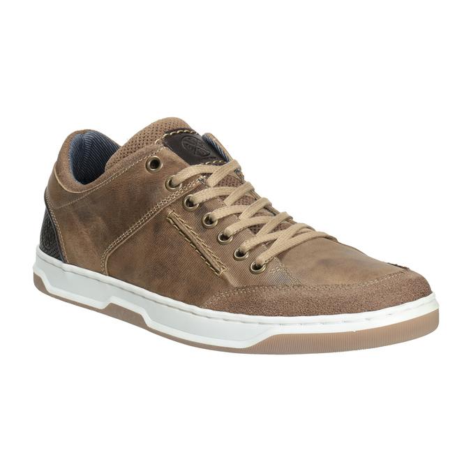 Skórzane trampki męskie bata, 846-8927 - 13