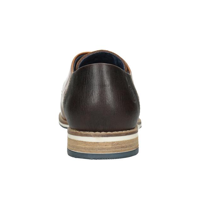 Brązowe skórzane półbuty bata, brązowy, 826-3924 - 16