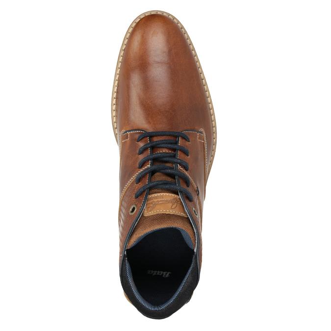 Skórzane buty męskie za kostkę bata, brązowy, 826-3925 - 15