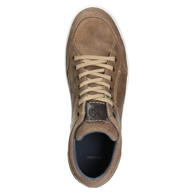 Skórzane trampki męskie bata, 846-8927 - 15