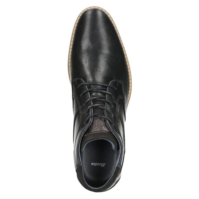 Męskie buty za kostkę bata, czarny, 826-6926 - 15