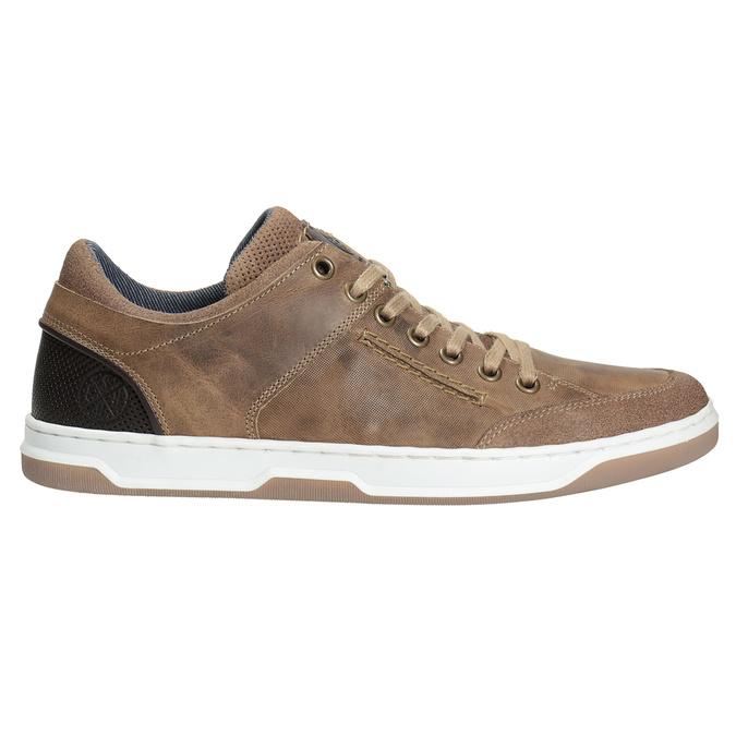 Skórzane trampki męskie bata, 846-8927 - 26