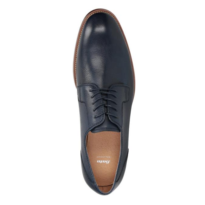 Granatowe skórzane półbuty bata, niebieski, 826-9997 - 15