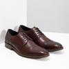 Skórzane bordowe półbuty męskie bata, czerwony, 826-5812 - 26