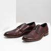 Skórzane bordowe półbuty męskie bata, czerwony, 826-5812 - 16