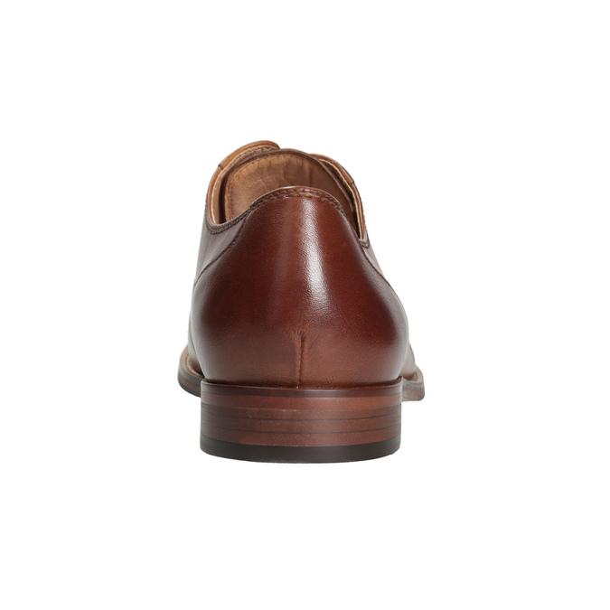 Brązowe skórzane półbuty męskie bata, brązowy, 826-3997 - 16