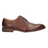 Brązowe skórzane półbuty męskie bata, brązowy, 826-3997 - 26