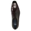 Ciemnobrązowe skórzane półbuty typu angielki bata, brązowy, 826-4851 - 15