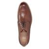 Brązowe nieformalne półbuty ze skóry bata, brązowy, 826-3853 - 15