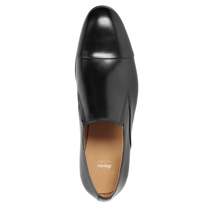 Skórzane mokasyny męskie bata, czarny, 814-6626 - 15